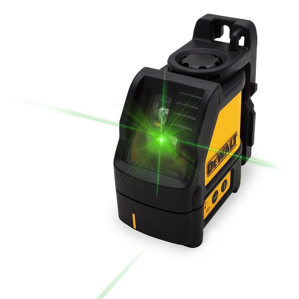 Dewalt 165 Ft Green Self Leveling Cross Line Laser Level With 3 Aaa Batteries Case Dw088cg Qu The Home Depot In 2020 Laser Levels Dewalt Laser