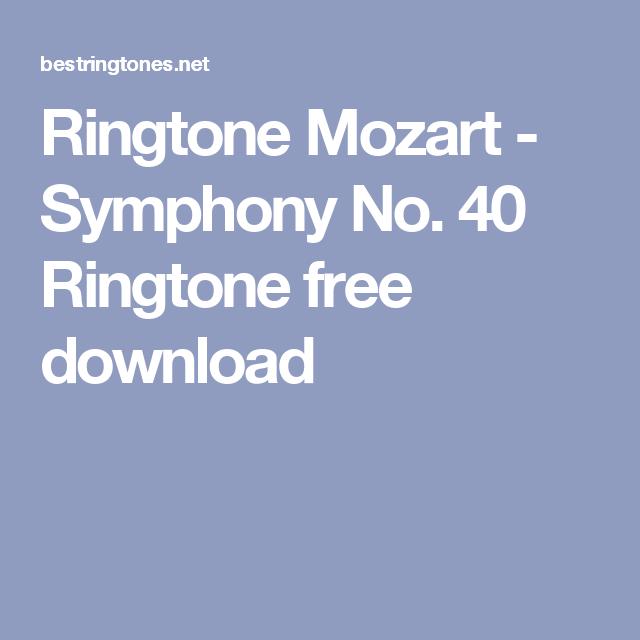 Ringtone Mozart - Symphony No  40 Ringtone free download | Best