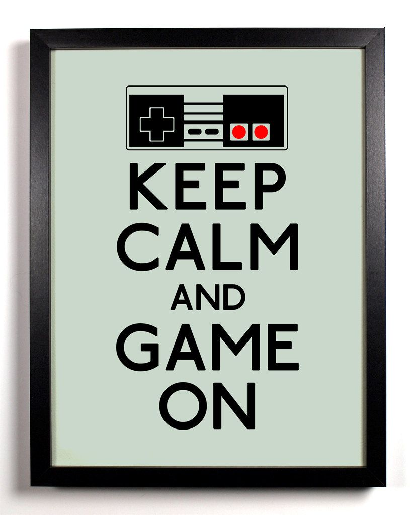 Keep Calm and Game On Nintendo Controller 8 by KeepCalmAndStayGold