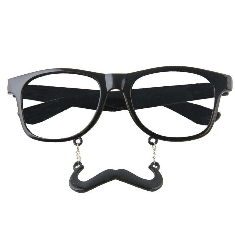 f1db7004c08 Incognito Mustaches Glasses S1 Black - Clear Lens 7096