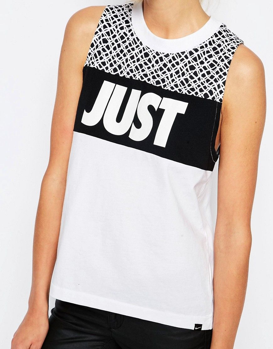 0956a53f79ef2 Image 3 of Nike Muscle Tank Vest With Just Do It Print