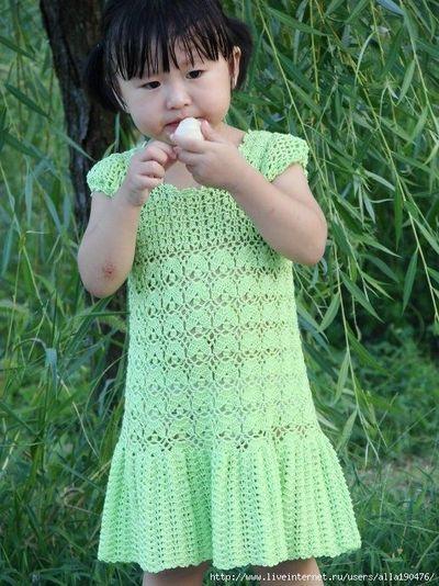 Free Crochet Baby Dress Patterns Girls Dress Free Crochet Graph