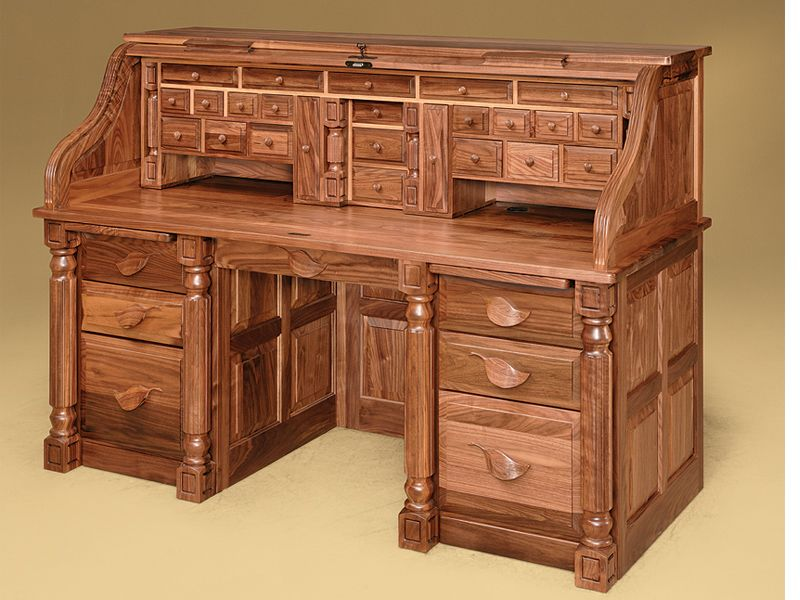 Banker S Rolltop Desk Two Secret Compartments With Of Course