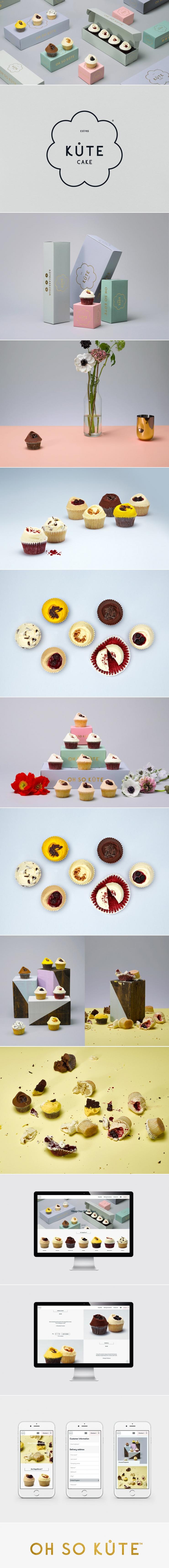 Kute Cake Artisan Cupcakes — The Dieline   Packaging & Branding Design & Innovation News
