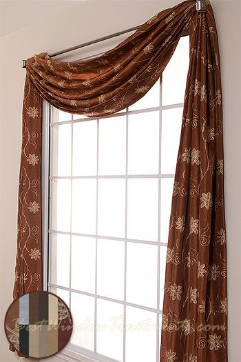 Window Valances And Swags Swag Topper Available In 11 Colors Previous Por