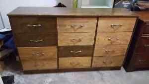 Vintage 12 Drawer Wood Dresser Ottawa