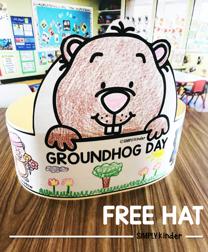 Free Groundhog Day Hat Crafts Gifts Kindergarten Groundhog Day