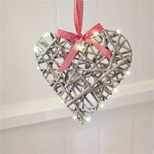 silver heart ornament with pearls