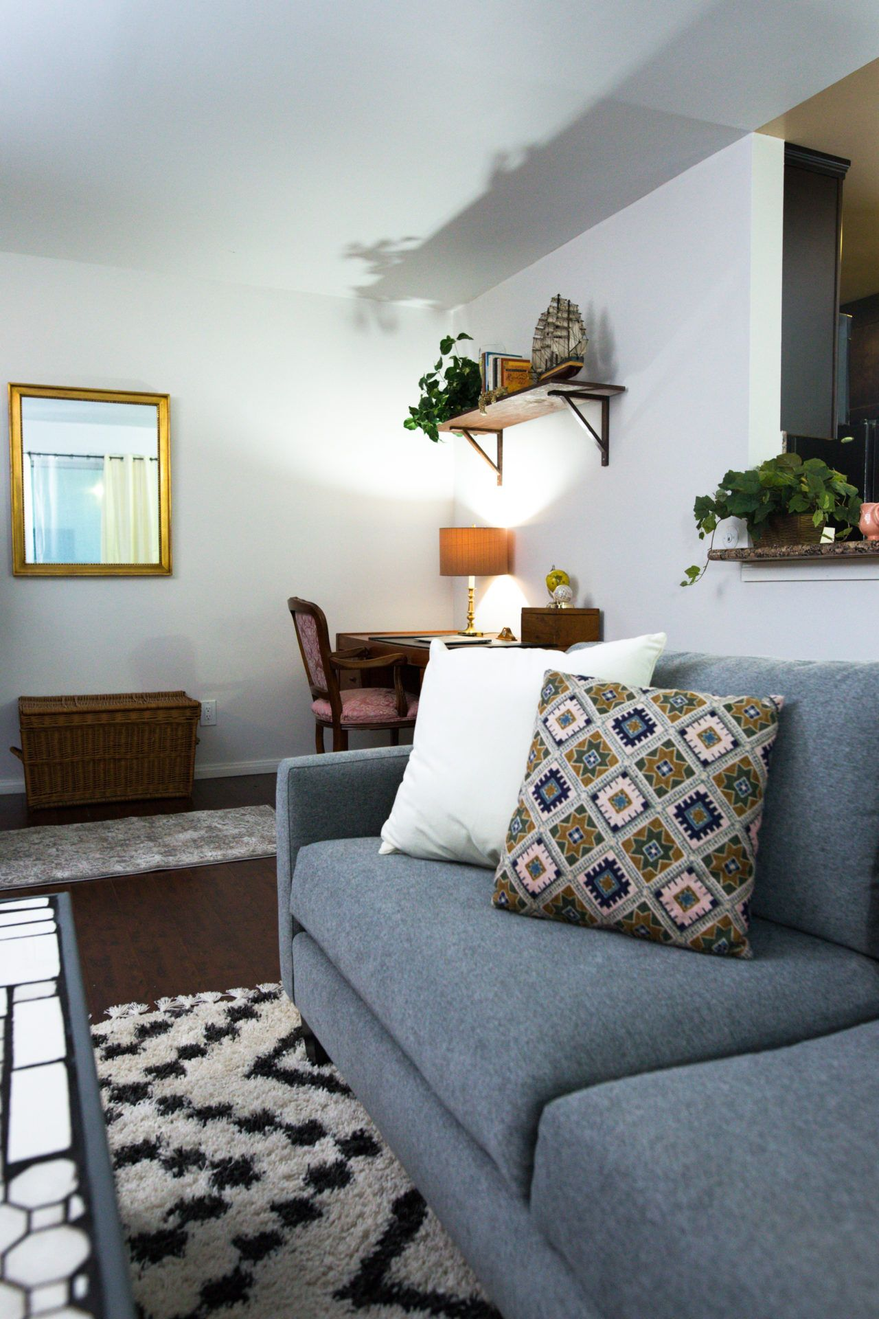 Newlyweds on a Budget! Living Room/ Dining Room Makeover ...