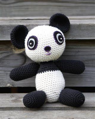 Pandabeer Haken Knuffel Crochet Beren Croché Agujas En