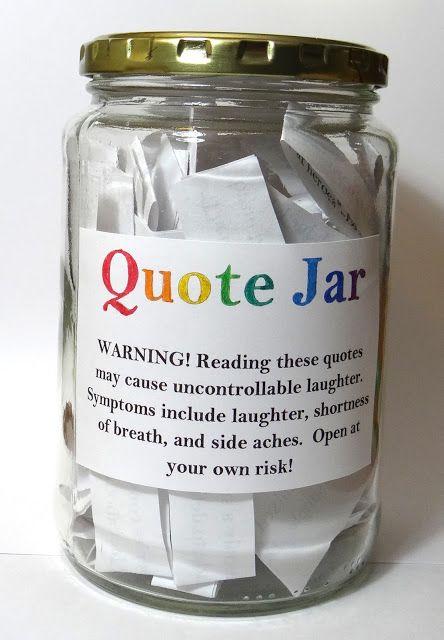 Amber S Craft A Week Blog Diy Quote Jar Quote Jar Diy Quotes Jar