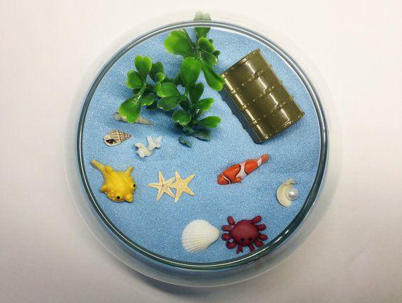 Miniature Fishbowl Terrarium / Desktop Zen Garden / by carielewyn