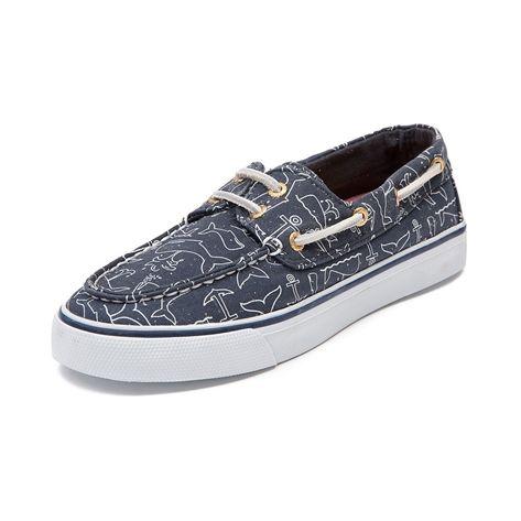 Men Anchor Whale Pattern Funny Skate Shoes For Men