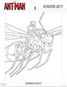 free ant man printable coloring sheets