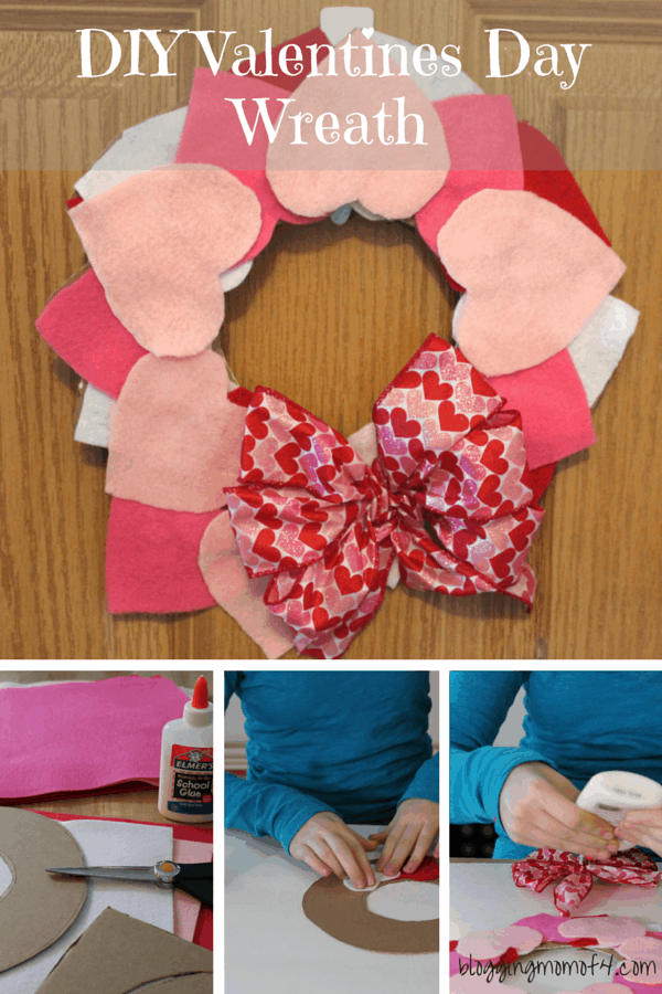 Diy valentines day wreath home made valentines day wreaths and diy valentines day wreath solutioingenieria Images
