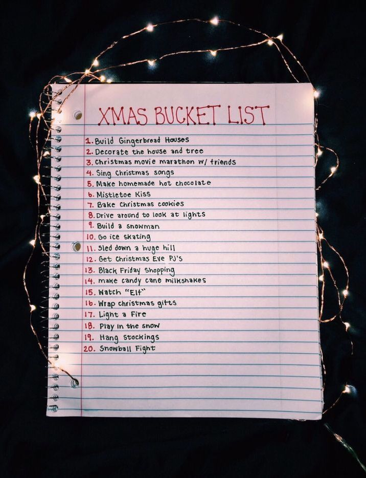 christmas bucket list  #fallbucketlist