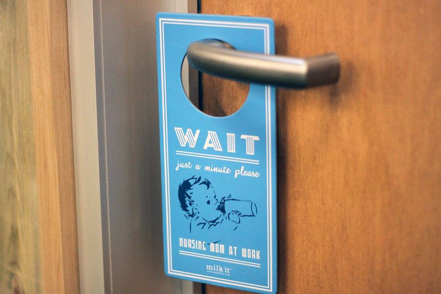 Pump in Peace!  2-sided Privacy Door Hanger: Nursing Mom at Work/Room in Use...I need to make one of these!