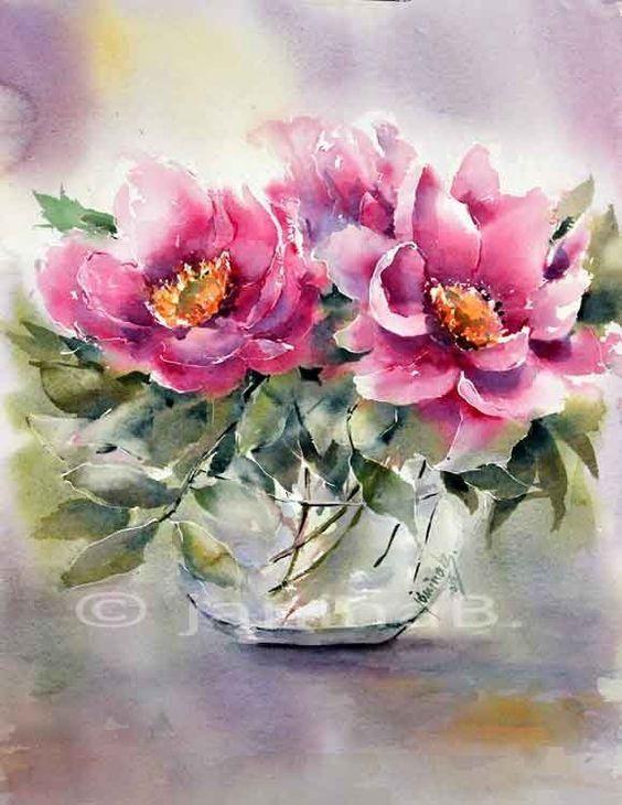 Beautiful Flower Art Watercolor Flowers Floral Painting