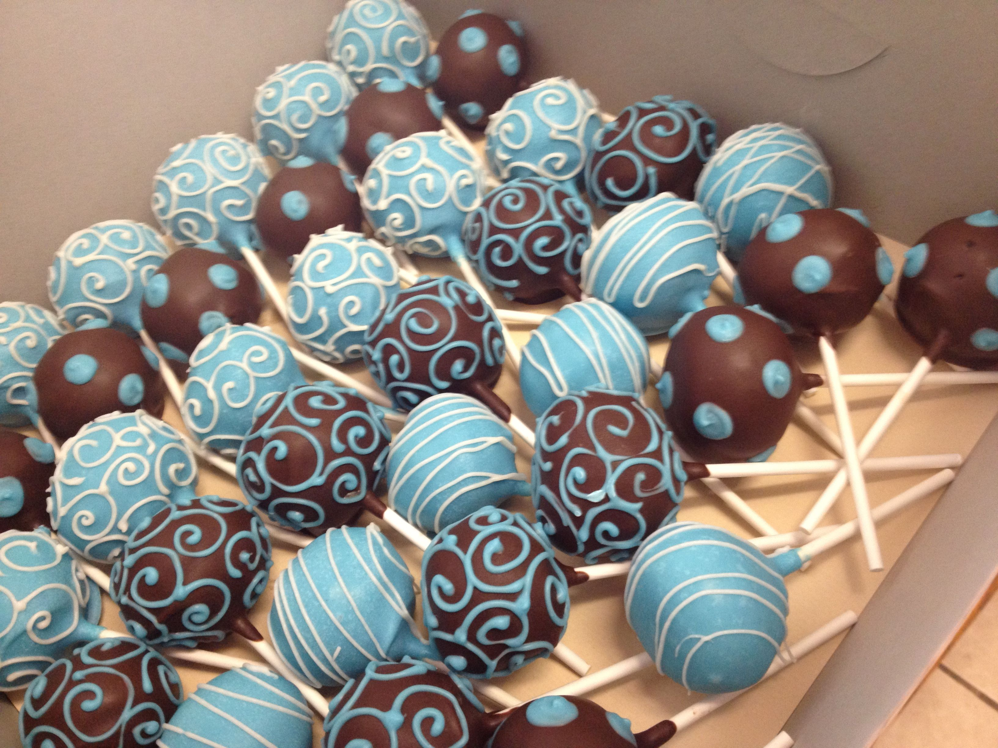 Blue Cakes Pops Baby Shower Cake Pops Baby Shower Cakes Baby