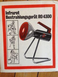 kult infrarot bestrahlungsger t rotlicht ro 4300 aus 70er jahre in niedersachsen braunschweig. Black Bedroom Furniture Sets. Home Design Ideas