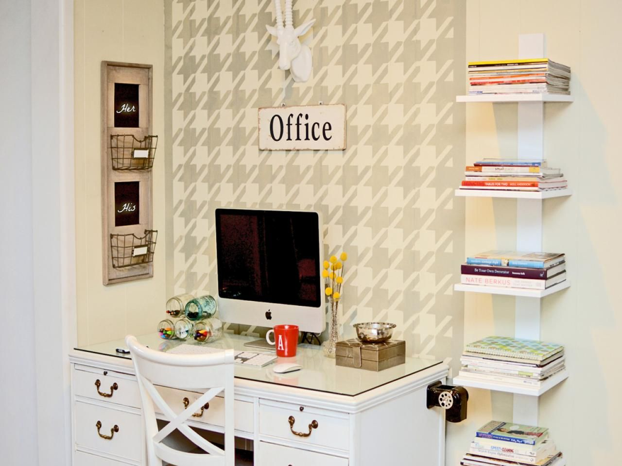 Home Office Organization Quick Tips | Wire basket, Desks and Hgtv