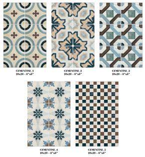 Imitation En Gres Cerame De Carreaux Ciment Cementine Color