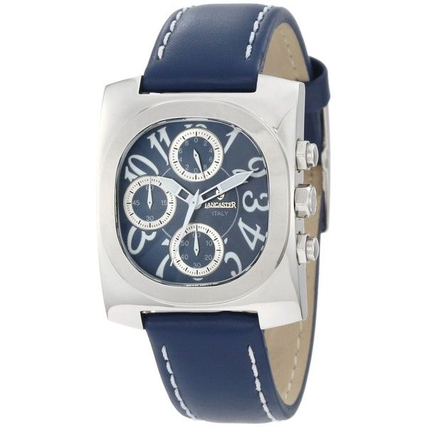 Save $536.00 on Lancaster Chronograph Blue Textured Dial Blue Leather Watch; only $129