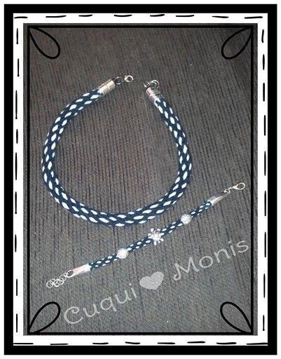 Cuqui♥Conjunto 12€ #kumihimo #necklace #bracelet #handcrafted #supercuqui