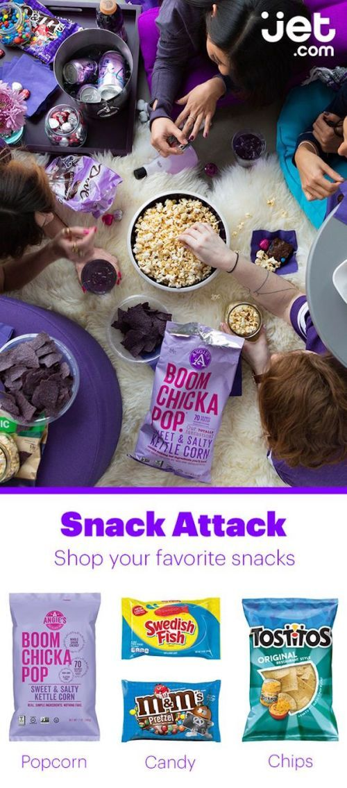 Stock up on snack food and save at Jet com! Get free
