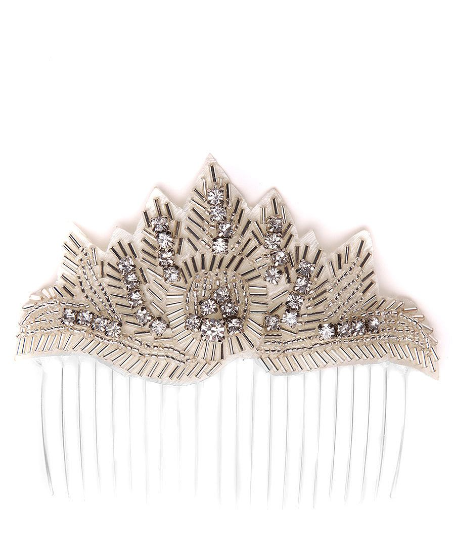 Beaded Hair Comb In Silver Sale Johnny Loves Rosie 1920 S Stylee Beaded Hair Combs Hair Beads Hair Comb