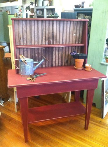 Potting Bench built by Tracy's Primitive Creations of Marshall, MI