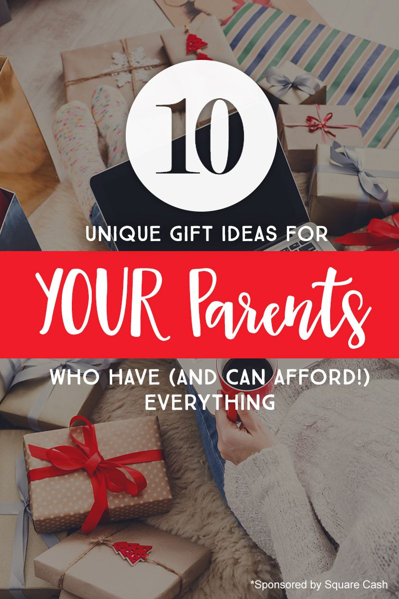 10 Unique Gift Ideas for YOUR Parents Who Have (And Can