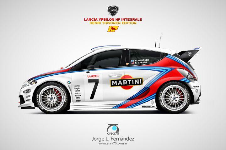 Wrc Lancia Ypsilon Hf Integrale  Homenaje A Henri Toivonen