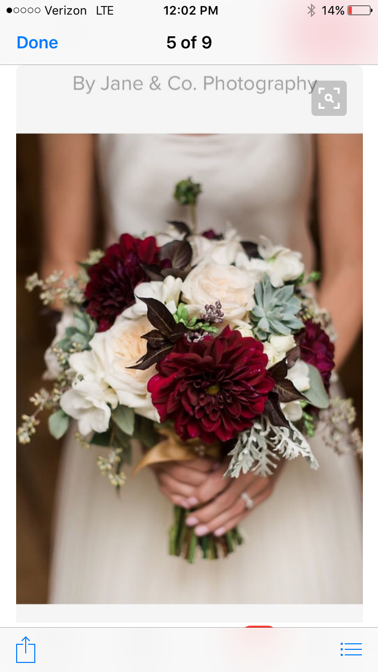 I Love The Pop Of Maroon Not Too Over Powering Wedding Pinterest