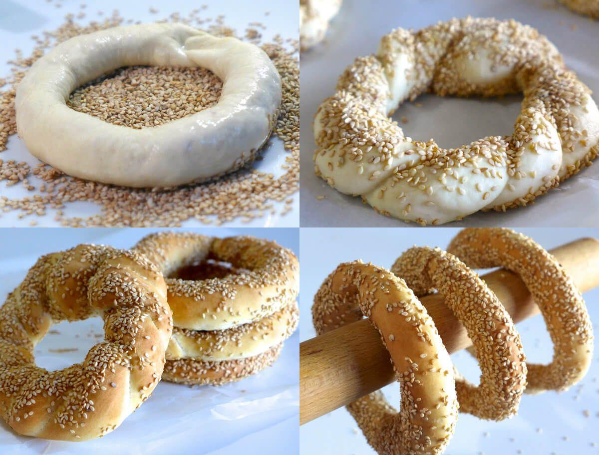 عالم الطبخ والجمال طريقة عمل كعك السمسم مافي أسهل من هيك Jordanian Food Desserts Food