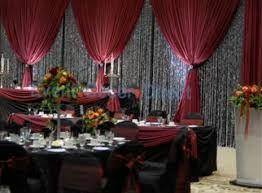 Image result for burgundy black white wedding   Wedding stuff ...