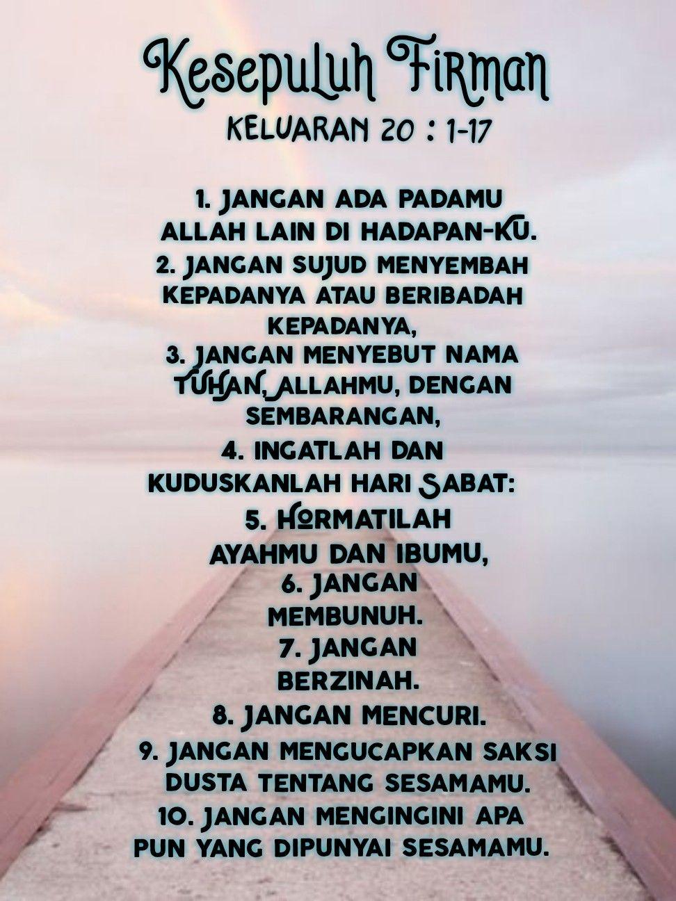Kesepuluh Firman Keluaran 20 1 17 Ayat Alkitab Kutipan Alkitab Alkitab