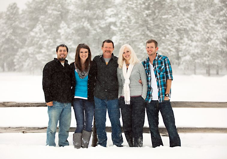 Family Portrait Snow 5 Five