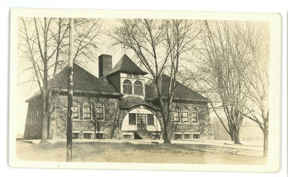 RPPC Sized Real Photo School House SPRING MILL PA