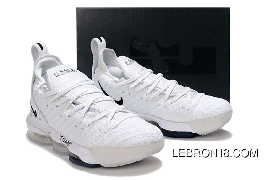 size 40 3d39e b78a4 Nike LeBron 16 All White Women Men Battle Shoes Copuon