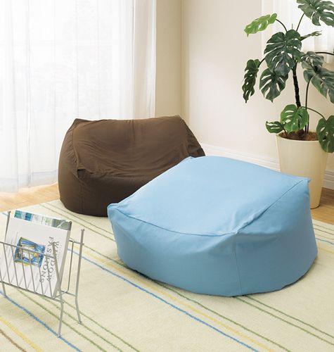 ごろりゆったり ビーズクッション は簡単手作りdiy ビーンバッグチェア 体にフィットするソファ インテリア雑貨