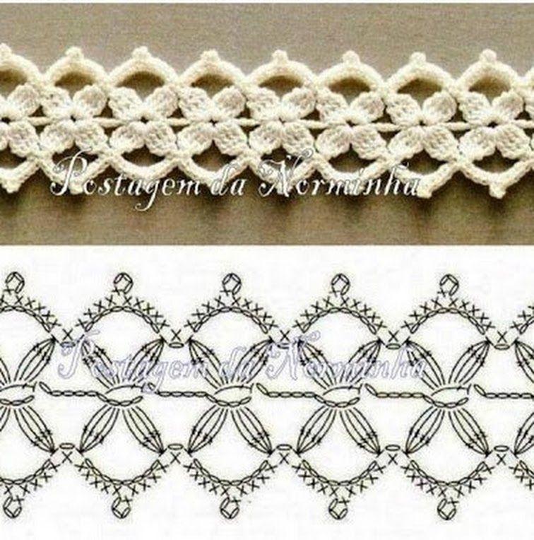 BICO ( ENTREMEIO) CROCHÊ   Crochet Bordures   Pinterest   Beautiful ...