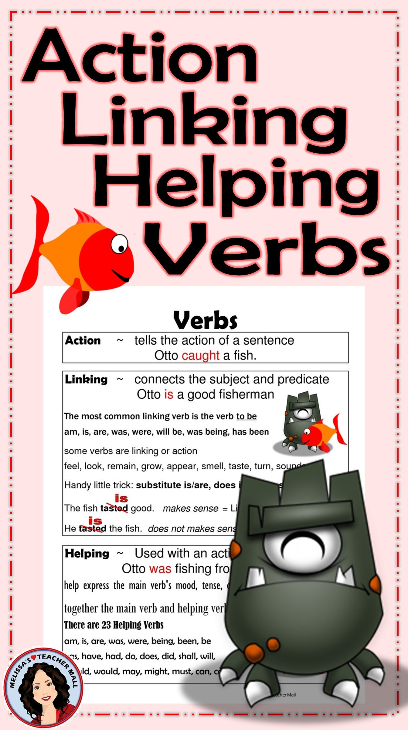 Verbs Action Linking Helping Activity