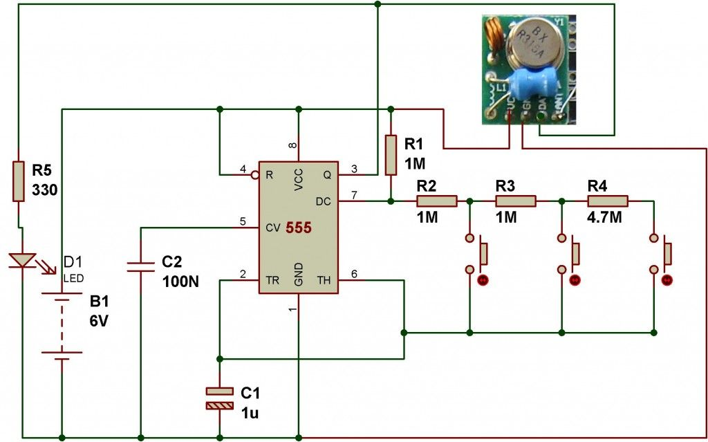 How To Use Rf Module With Arduino Schematic 아두이노