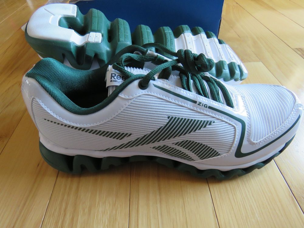 REEBOK ZIGLITE Run J97366 White Green Running Shoes NEW Old Stock Men's Size  8.5 #Reebok