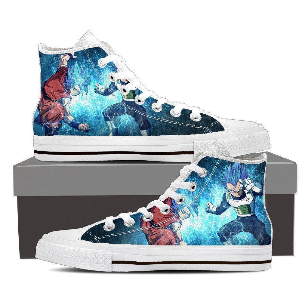 4982376571997b DBZ Goku Vegeta SSGSS Super Saiyan God Blue Sneaker Converse Shoes  DBZ   Goku  Vegeta  SSGSSSuperSaiyan  GodBlue  SneakerConverseShoes