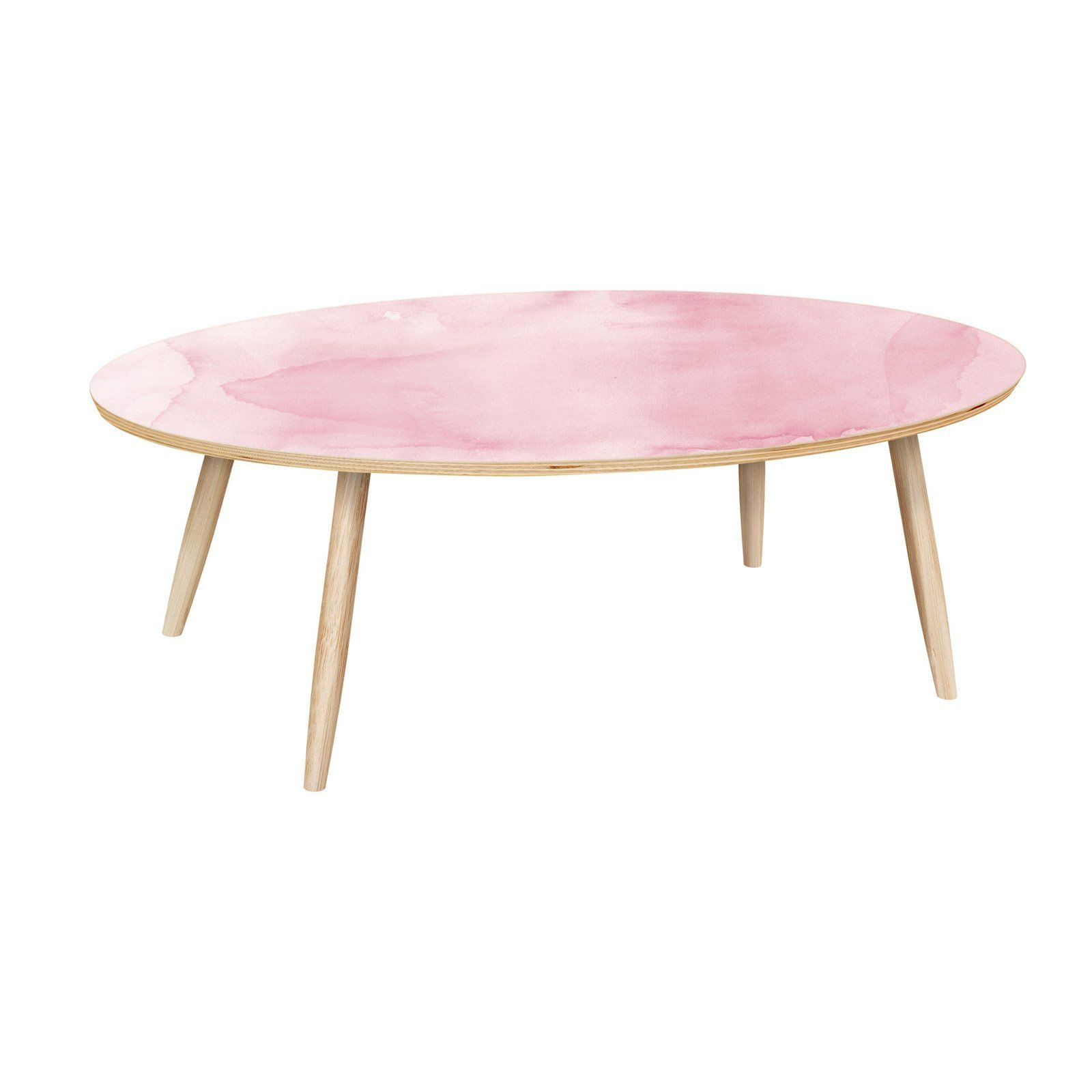 Nyekoncept Ondine Pink Splash Dowel Coffee Table Products In
