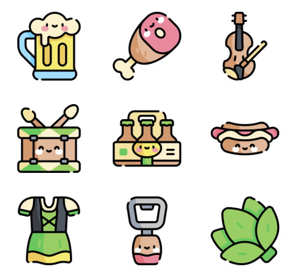 50 Premium Vector Icons Of Oktoberfest Designed By Freepik In 2020 Oktoberfest Doodle People Icon Pack