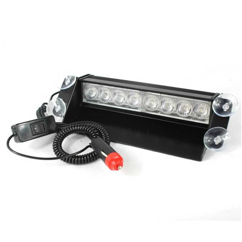 Strobe Lights For Cars Fascinating 8 Led White Emergency Vehicle Car Truck Windshields Dash Warning Decorating Inspiration
