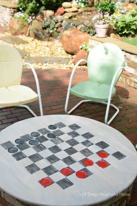 DIY Fire Pit Cover & Game Table -   24 small garden fire pit